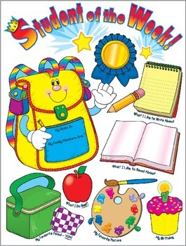 Back to School Student of the Week Template Grades K-3