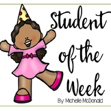 Student of the Week or Star Student (Low Prep & Editable)