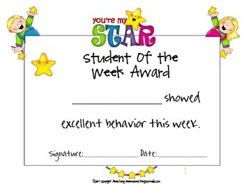 Student of the Week Awards