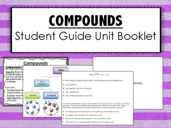 Compounds Science Unit Overview Student Booklet (STAAR questions)