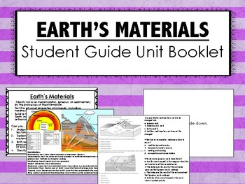 Earth's Materials Science Unit Overview Interactive Notebook (STAAR questions)