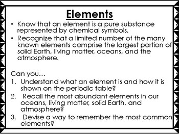 Elements Science Unit Overview Interactive Notebook (STAAR questions)