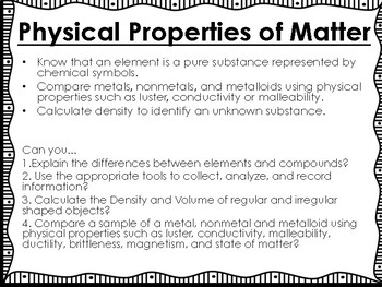 Matter Science Unit Overview Interactive Notebook (STAAR questions)