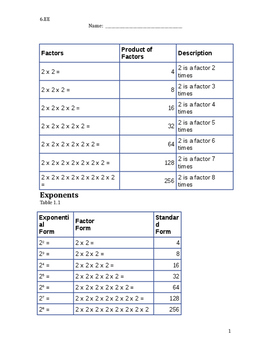 Student packet Equations and expressions