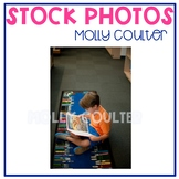 Stock Photo: Student Reading a Book in the Library #1 -Personal & Commercial Use