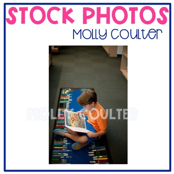 Stock Photo: Student Reading a Book in the Library #1 -Per