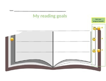 Student reading goal page