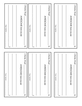 """Student recognition system - """"awesome"""" ballot cards & frame template!"""