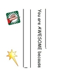 """Student recognition system - """"awesome"""" ballot cards & fram"""
