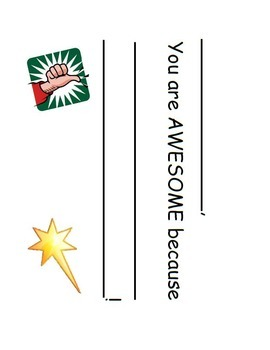 "Student recognition system - ""awesome"" ballot cards & fram"