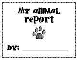 Student researched animal report
