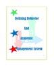 Student's Behavior Checklist