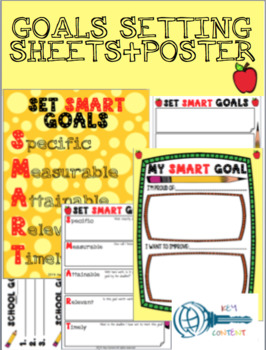 Student's Goals Setting sheets + 2 Posters