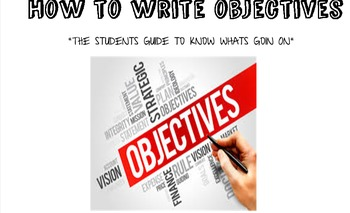 Student's Guide to Writing Objectives