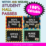 Student's Hall Pass in Witch & Wizard Theme - 100% Editable