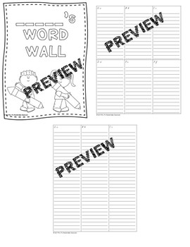 Student's Personal Word Wall