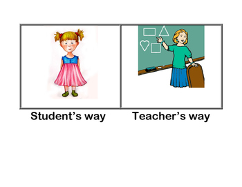 Student's Way or Teacher's Way