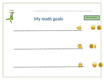 Student self assessment for math goals