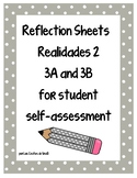 Student Self-Assessment Reflections Sheets for Realidades 2 3A and 3B