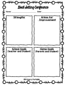 Student self-evaluation and conference form