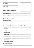 New student feedback form - My learning skills and preferences.