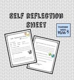 Student Self Reflection Sheet FREEBIE