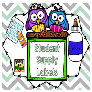 Student supply labels
