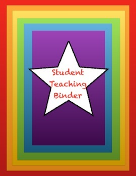 Student teaching binder cover page