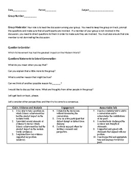 Student to Student Discussion Tracker and Protocol