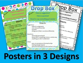 Student-to-Teacher Note Drop Box