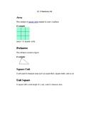 Student vocabulary sheets Go Math Grade 3 Lesson 11