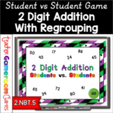 Student vs. Student - 2 Digit Addition Powerpoint Game