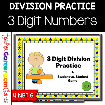 Student vs Student - 3 Digit Division Practice PPT Game