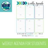 Weekly Agenda for Students