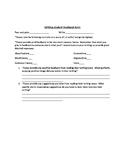 Student writing feedback writing form