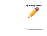 Student writing journal for preschool and prekindergarten