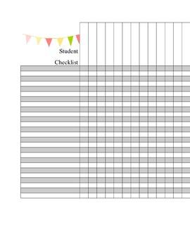 Student/Assignment Checklist