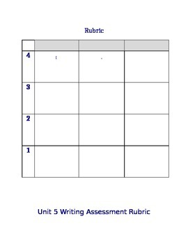 Student/Kid Friendly Rubric for Projects & Assessments Editable