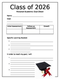 Student/Parent Friendly Academic Goal Sheet