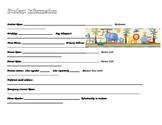 Student/Parent Info Page