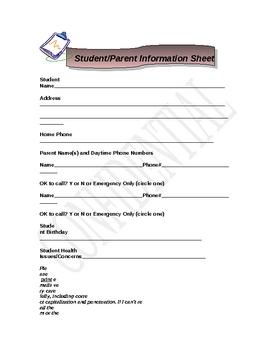 Student/Parent Information Questionnaire