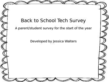 Student/Parent Technology Survey