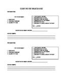 Student/Peer Group Evaluation Sheet