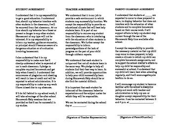 Student/Teacher/Parent-Guardian Agreement