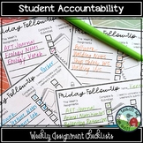 Student Accountability - Weekly Assignment Checklists