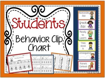 Students Behavior Clip Chart
