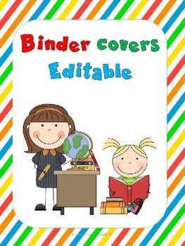 Students Binder Covers Editable!!!!
