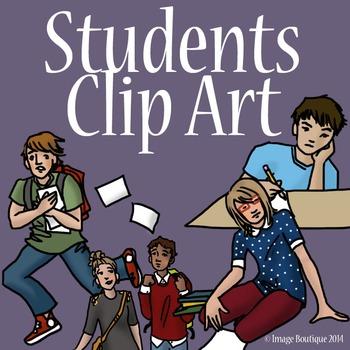 Teenager Students Clip Art