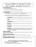 Students Council Forms