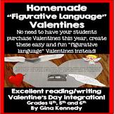 "Valentine's Day Students' Homemade ""Figurative Language"" Valentines"
